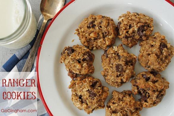 Healthy Ranger Cookies Go Gingham