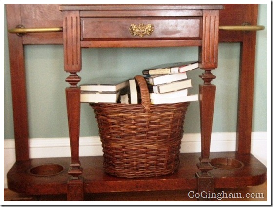 The Library Book Return Basket