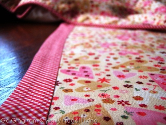 Go Gingham: Valentine's Day table throw