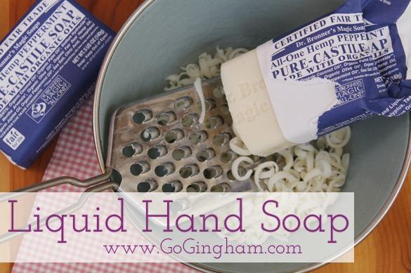 How to make liquid hand soap Go Gingham