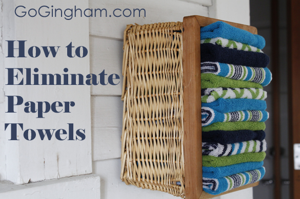 How to eliminate paper towels from Go Gingham
