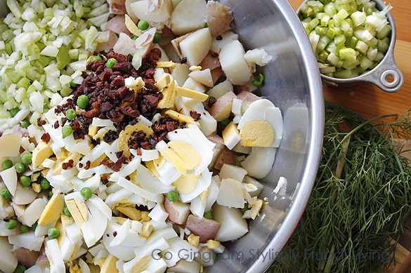 Go Gingham Potato Salad That's Really a Meal