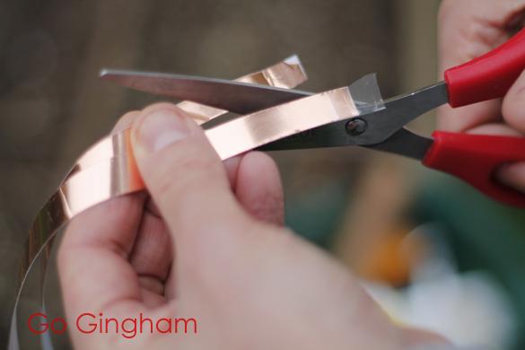 Slugs don't like copper tape Go Gingham
