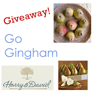 Pear giveaway Go Gingham