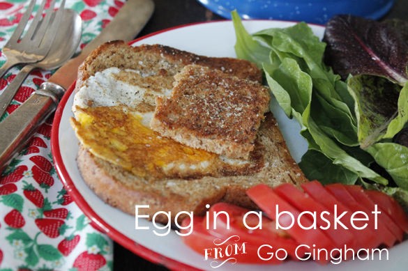 Egg in the basket from Go Gingham