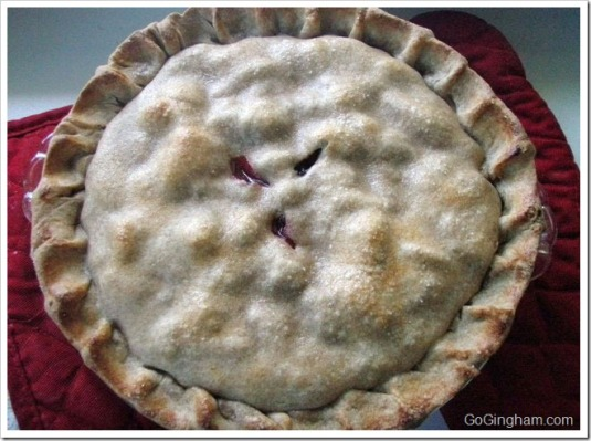 Blackberry pie made with whole wheat flour
