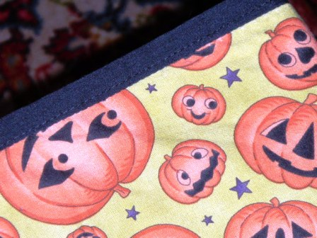 Homemade Halloween decorations tablecloth details diningroom