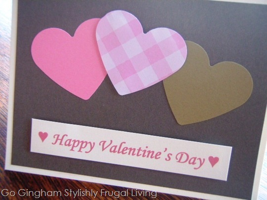 Go Gingham: Homemade Valentine's Day card