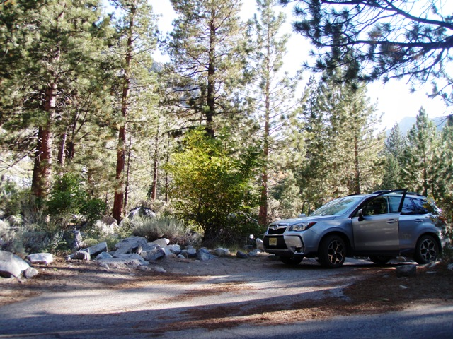 Go Gingham Big Pine campground