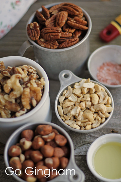Recipe Mixed Nuts Go Gingham