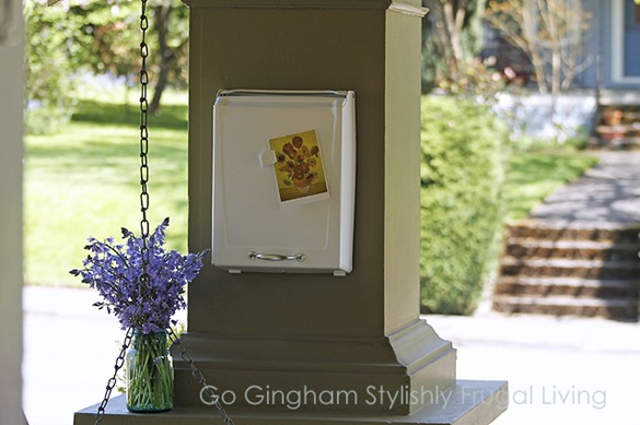 Go Gingham Upcycled Mailbox