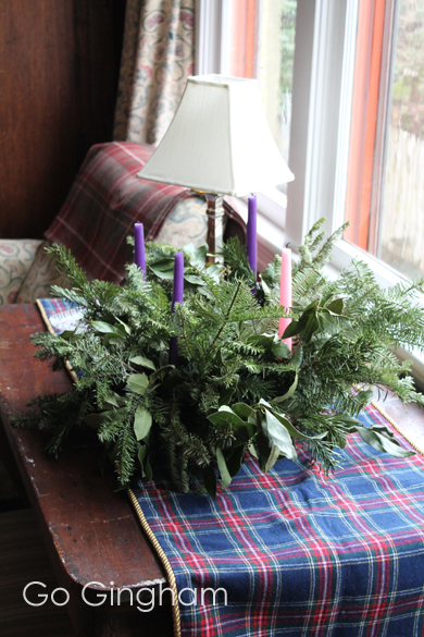 Christmas Decorations Advent Wreath Go Gingham