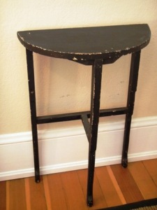 Decorating with two tables - black table