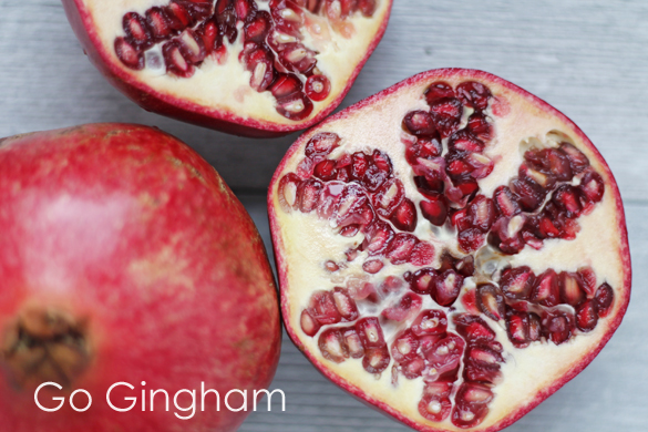 Pomegranates Go Gingham