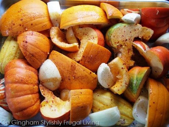 Roasted Pumpkin and Squash pieces