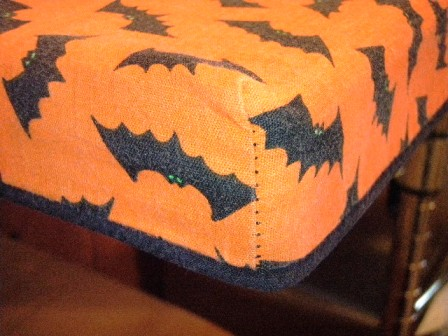 Halloween kitchen tablecloth - after