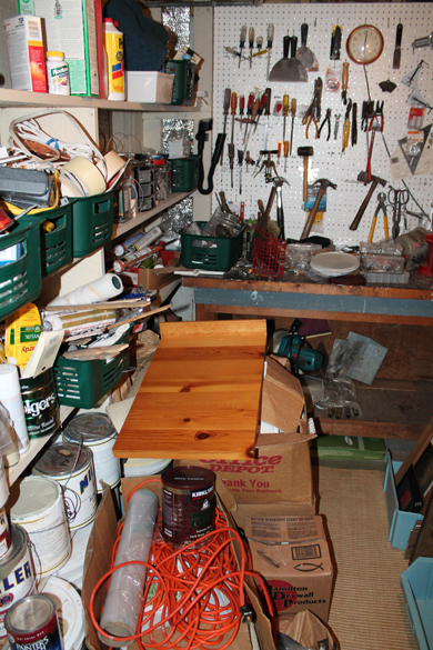 Tool room before