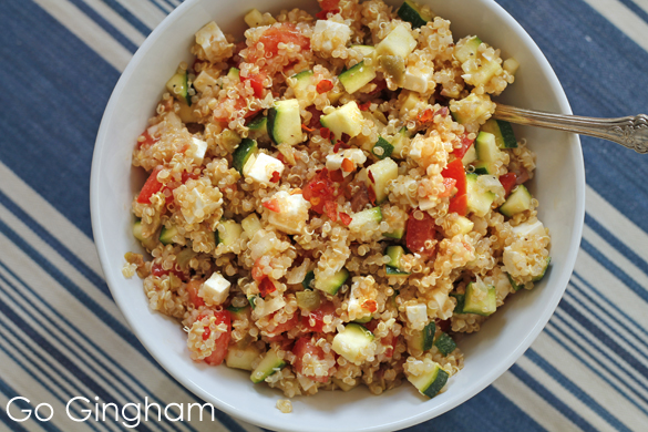 Quinoa Salad with Vegetables Go Gingham