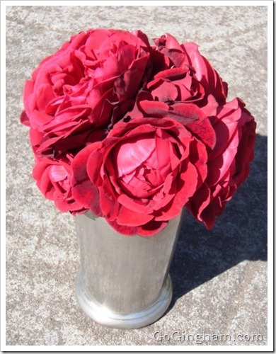 Frugal and Easy Gifts - Roses in Cup