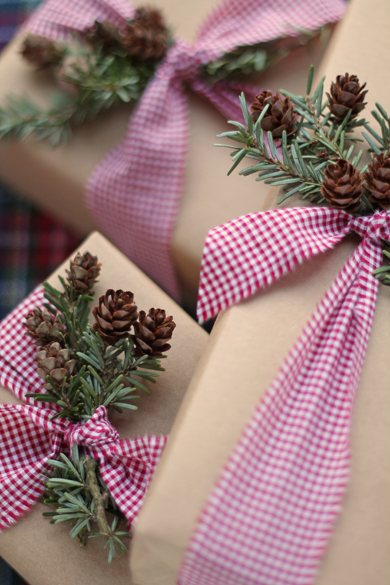 Gifts wrapped Go Gingham