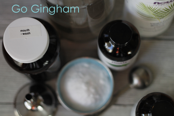 Go Gingham homemade mouthwash
