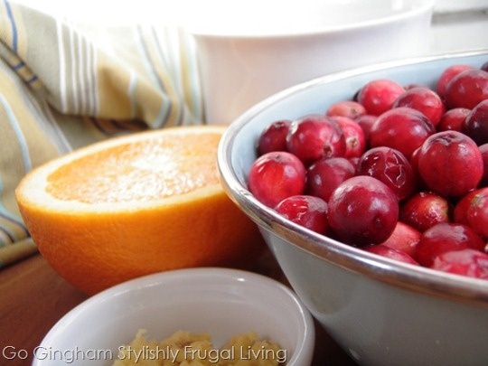 Cranberries, orange and ginger