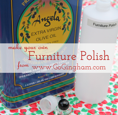 Go Gingham: DIY furniture polish
