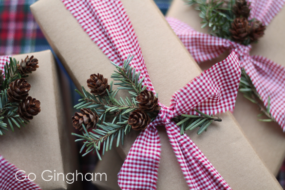 Sustainable Gift Wrapping Go Gingham