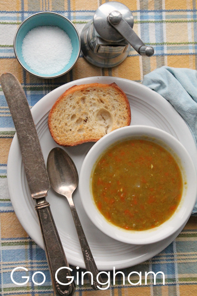 Split pea soup with carrots from Go Gingham