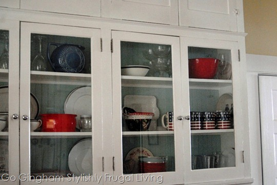 Repurposed kitchen cabinets