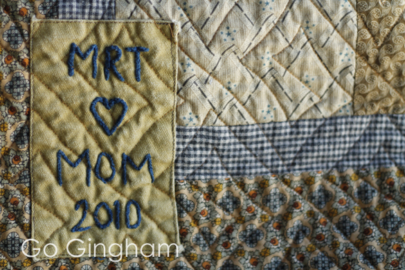 Quilt for college from Go Gingham