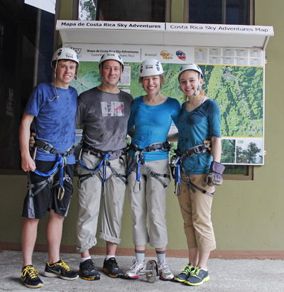 Zip lining Costa Rica with Go Gingham