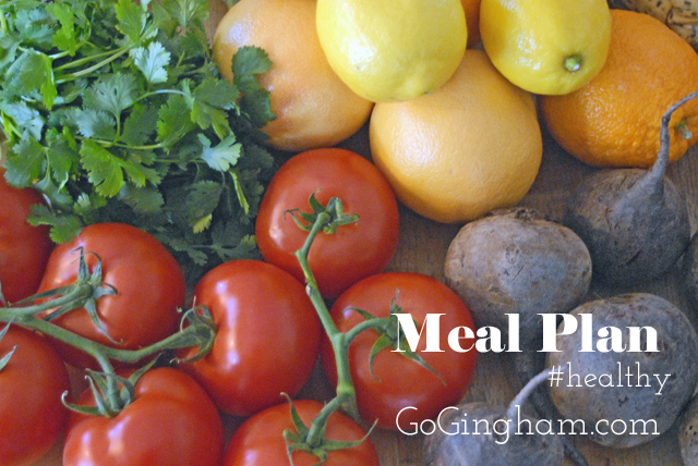 Green Living Meal Plan Before Grocery Shopping Go Gingham