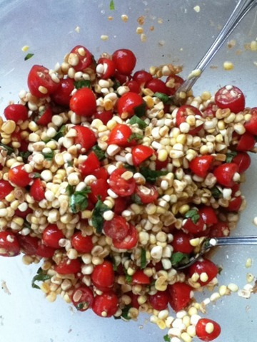 Go Gingham: Fresh Corn Salad with Balsamic Dressing