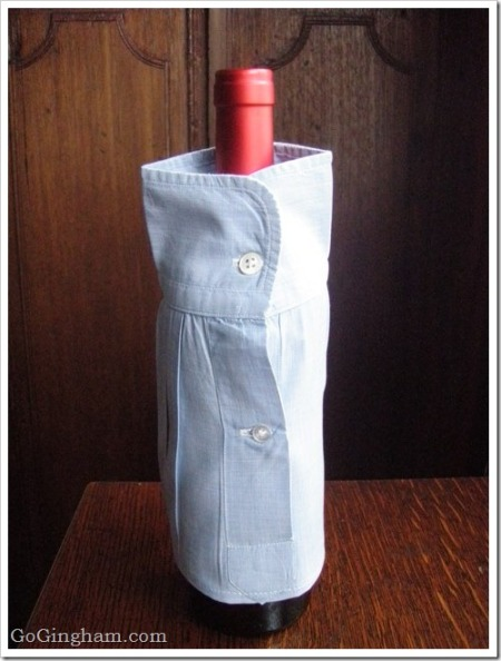 Slipcover for a wine bottle - Go Gingham style!