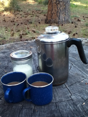 Coffee at campsite
