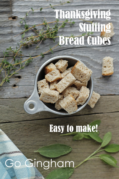 Bread cubes for stuffing Go Gingham
