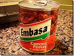 Chipotle peppers in adobo sauce can