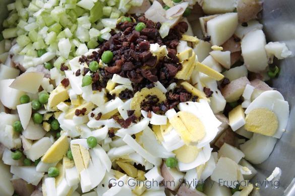 Potato Sald Ingredients Go Gingham