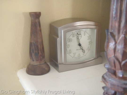 Clock on mantel