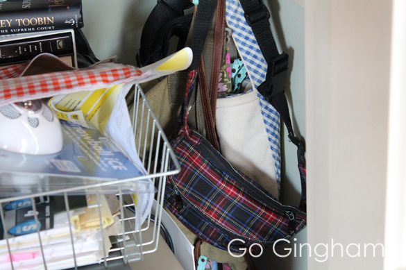 Bags and Purses Home Organization #15 Go Gingham