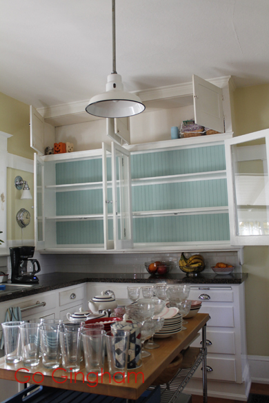 During kitchen cabinet clean-out Go Gingham