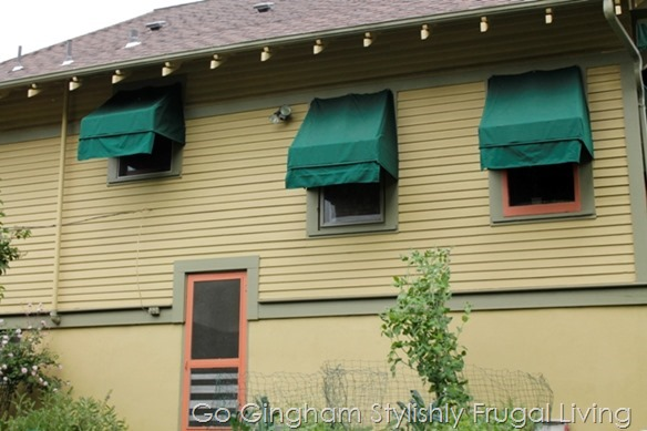 Green Living tip: add awnings from Go Gingham
