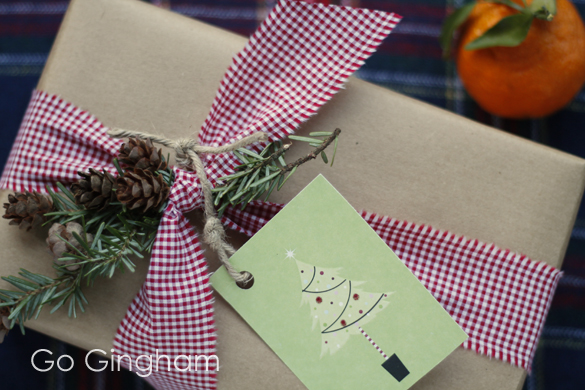 Gift and Reused Tag Go Gingham