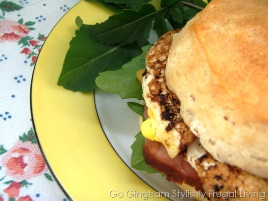 Go Gingham: Easter morning sandwich
