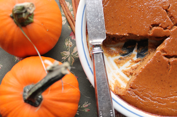 Crust-Less Pumpkin Pie from Go Gingham Stylishly Frugal Living
