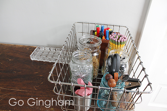 Home Organization Weekly Project #13 from Go Gingham Office supplies