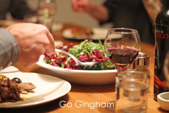 Dinner is served Go Gingham