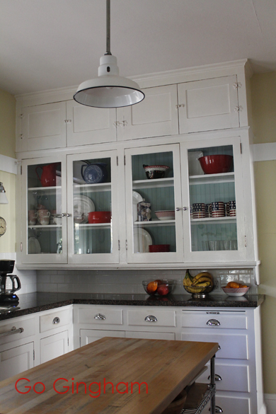 After kitchen cabinet clean-out Go Gingham